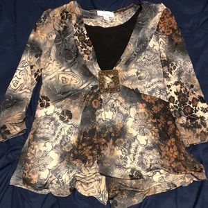 Buckle blouse